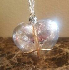 NEW POTTERY BARN MERCURY BLOWN GLASS HEART CHRISTMAS ORNAMENT