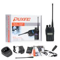 PUXING PX-777 VHF 136-174MHz 5W/1W 2-Way FM Radio Walkie Talkie 128CH + Earpiece