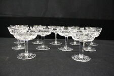Set of 11 WATERFORD Crystal LISMORE Cut Champagne/Tall Sherbet Glasses, Ireland