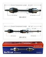 SurTrack Pair Set of 2 Front CV Axle Shafts For Mini R50 Cooper Base 1.6l Manual