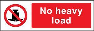 no heavy load