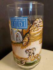 1983 Star Wars Burger King Coke Return Of The Jedi Drinking Glass Jabba Leia