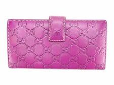Auth Gucci Long Wallet Gucci Shima Women''s used N273