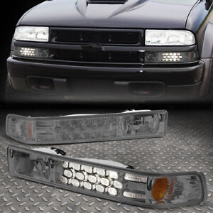 FOR 1998-2005 CHEVY BLAZER/S10 PICKUP LED LOOK CHROME SMOKED BUMPER LIGHT/LAMP