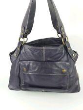 Ollie & Nic Purple Leather Handbag 34cm X 25cm