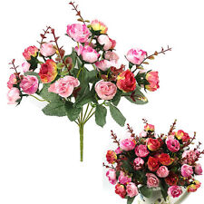 Artificial Rose Bridal Bouquet Silk Wedding Flowers Party Centerpieces Decor