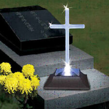 Solar Lighted Cross by Eternal Light Memorial Light for Grave or Garden
