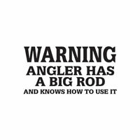 Angler Big Rod Fishing - Decal Sticker - Multiple Color & Sizes - ebn1725
