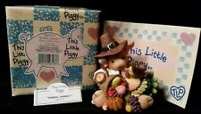 Enesco This Little Piggy Thanksgiving Figure 'Gobble Gobble' Numbered & Register