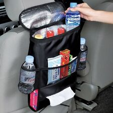 Car Seat Organiser with Cool Insulated Cooler Bag, Map, Tissue, Drinks Holder