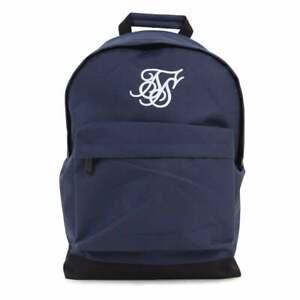 Sik Silk Mens Pouch Backpack School Bag Adjustable Padded Straps Navy