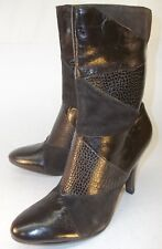 334ed08c2e58 Nine West ALLYOURSO Womens US 5.5M Brown Leather Suede Zip Heel Ankle Boots  809