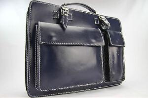 Business- und Laptoptaschen Luxus Aktentasche Blau L