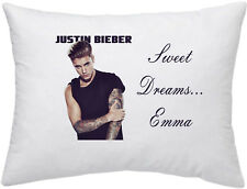 JUSTIN BIEBER #1 PERSONALISED PILLOW CASE