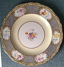 "Grosvenor Bone China ~ 10½"" DINNER PLATE ~ Ornate Floral ~ Gold Filigree"