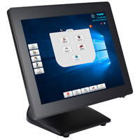 """SlimPOS All in one point of sale 15"""" Touch Flat Panel WIN 10 Restaurant POS"""
