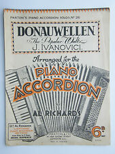 Piano Accordion - Music Sheet c1936