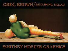 RECLINING SALAD ART PRINT GREG BROWN kitchen funny carrots peppers humor poster