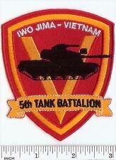 USMC 5th Tank Battalion color PATCH ! Marines IWO JIMA Vietnam RARE! 5th Tank Bn