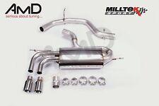 Milltek Mk5 GOLF GT TDI Sistema de Escape Acero Inoxidable no atractivo Jet Consejos