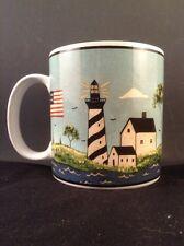 Coastal Breeze Warren Kimble Coffee Mug Stoneware Cup  Sakura Lighthouse ocean