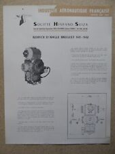 DOCUMENT HISPANO-SUIZA RENVOI D'ANGLE BREGUET 941 942 STOL BEVEL GEAR BOXES