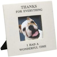 """Memorial Pet Photo Frame, Thanks For Everything I Had a Wonderful Time, 3x3"""""""