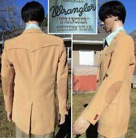 RARE! vintage 70s WRANGLER WRANCHER western blazer corduroy elbow patch men 40L