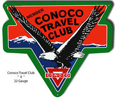 Conoco Travel Club Reproduction Laser Cut Out 18.5x21.5