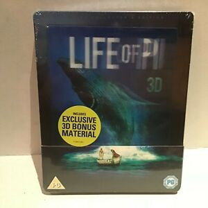 LIFE OF PI - 3D BLU-RAY STEELBOOK - AS NEW / SEALED  (B) 3 DISC COLLECTORS ED