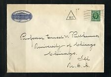 Great Britain Edward Vii British Museum Cover With Triangle W.C Marking To Us