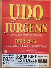 UDO JÜRGENS   2012  FRANKFURT  - orig.Concert Poster - Konzert Plakat  F.