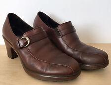 """DANSKO """"Norah"""" Womens Brown Leather Slip On Buckle Pump Heels Size 38 7.5"""