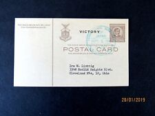 """Philippines Postal Card """"Unconditional Surrender Sept 2, 1945"""" Special cancel"""