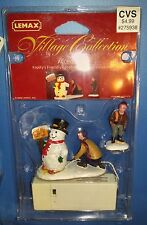 Lemax Village Lighted Accessories Frosty's Friendly Greeting Set of 2 2000 04511
