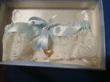 Vintage Wedding Garter/Original Box/Ann Seton/Gold Heart with Pearl #1673