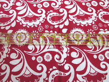 Paisley Paislies Allover Flannel Fabric Blue 3.19 Yd L