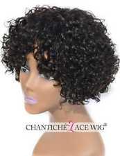 Hot Short Curly Bob Wigs Brazilian Real Human Hair Wigs For Black Women 8 Inch