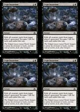 4x CRYPT INCURSION Dragon's Maze MTG Black Instant Com