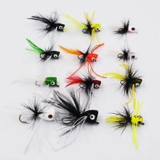 Bass Popper Dry Fly Fishing Lure Kit Panfish Bait color