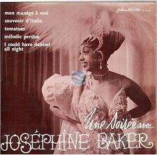 """JOSEPHINE BAKER mon manege à moi 45T 7"""" une soirée avec ... EP"""