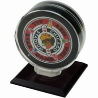 NICE SINGLE HOCKEY PUCK DISPLAY CASE STAND with Acrylic Base