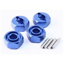 NEW Yeah Racing Blue Aluminum Wheel Adapter Set (4) 1/10 Slash 4x4 SHIPS FREE