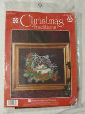 Designs for the Needle Cross Stitch Kit #1936 Snow Globe Christmas Traditions