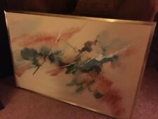 Diedre Heller - Listed Artist - Abstract  Art - Large - Good Condition!