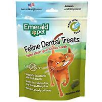 Emerald Pet Feline Dental Crunchy Natural Grain Free Cat Treats, Made in USA,