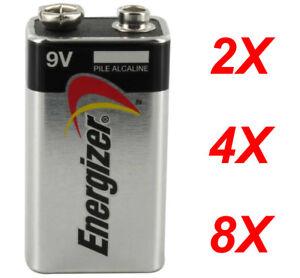 Energizer Max 9V Volt Alkaline Battery Batteries brand new Free Postage