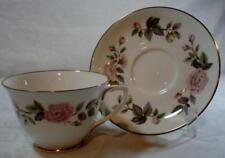 Set of 8 Royal Worcester June Garland Cups and Saucers