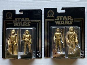 Star Wars Commemorative Gold Edition Darth Vader & Stormtrooper Luke & Chewbacca
