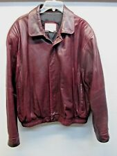 Lone Pine Men's 46 Soft Red Leather Lambskin Bomber Motorcycle Jacket Made USA